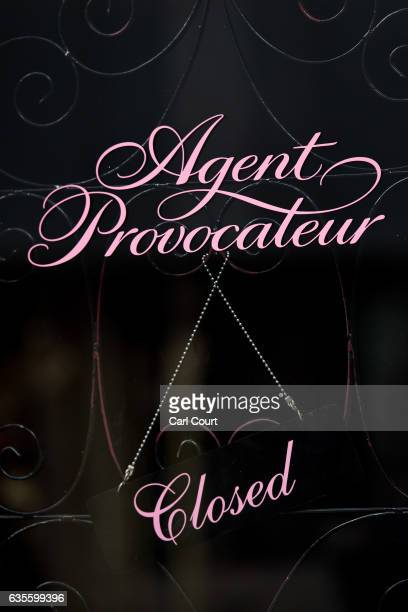 A sign is displayed in the window of an Agent Provocateur store on February 16 2017 in London England Private equity firm 3i has been looking into...