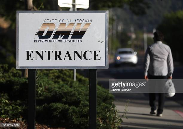 A sign is posted in front of a California Department of Motor Vehicles office on May 9 2017 in Corte Madera California The California Department of...