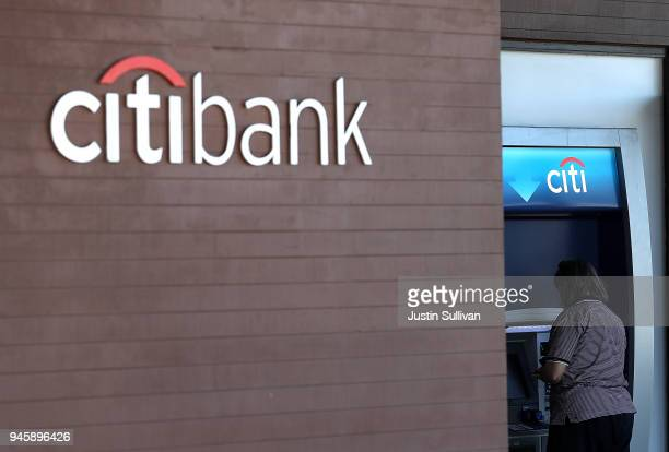 A sign is posted in front of a Citibank office on April 13 2018 in San Francico California Citigroup reported better than expected first quarter...