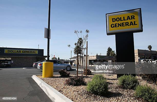 A sign is posted in front of a Dollar General store on March 12 2015 in Vallejo California Dollar General Stores Inc announced plans to open over 700...