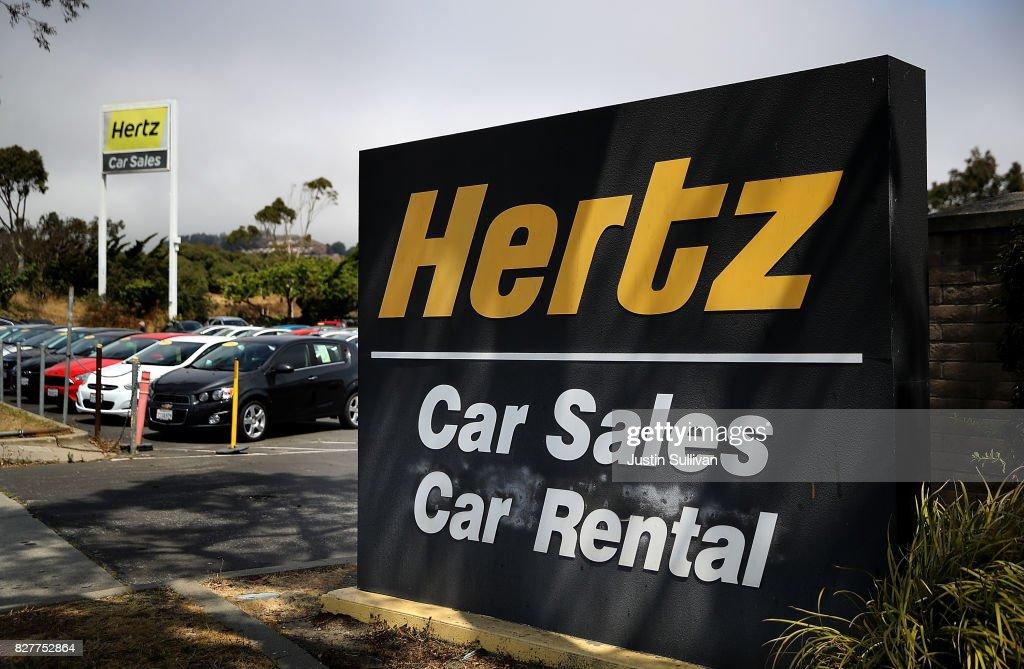 Rental Car Companies Stocks Drop Amid Earnings Woes : News Photo
