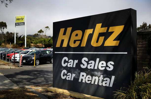 Photos et images de Rental Car Companies Stocks Drop Amid
