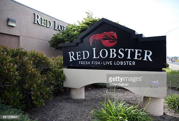 A sign is posted in front of a Red Lobster restaurant on May 16 2014 in San Bruno California Darden Restaurants announced an agreement to sell its...