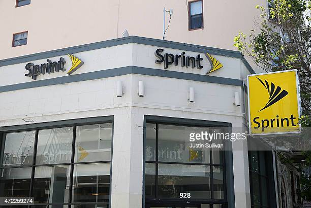 Sign is posted in front of a Sprint store on May 5, 2015 in San Francisco, California. Sprint reported a $224 million first-quarter loss with...