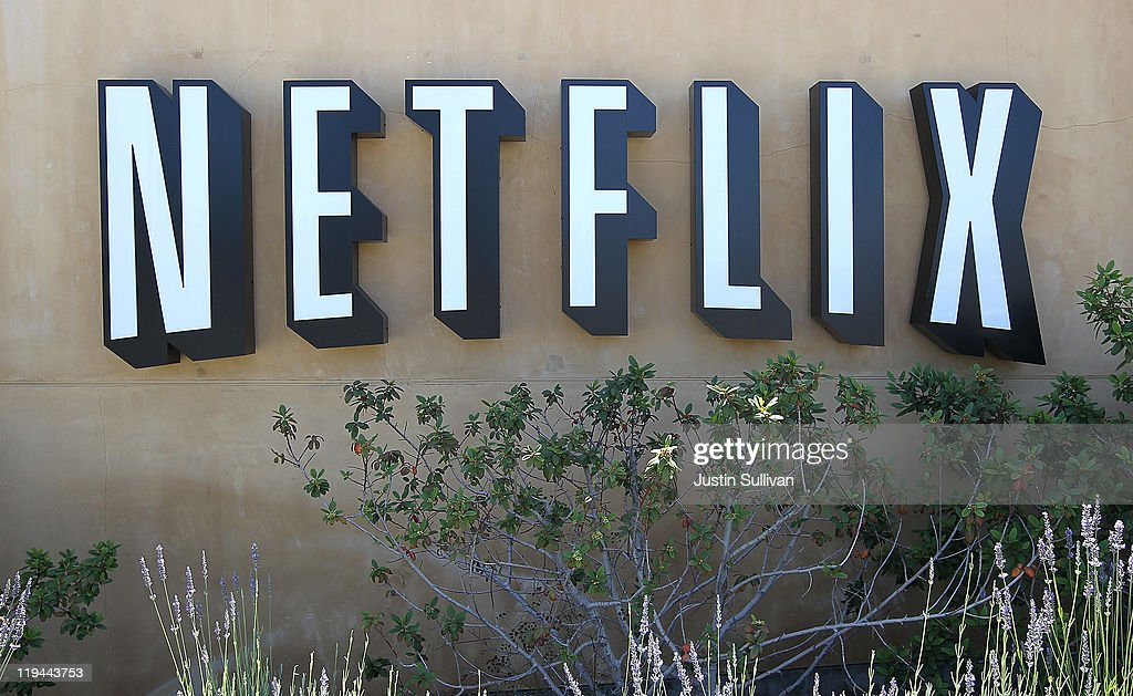 A sign is posted in front of the Netflix headquarters on July 20, 2011 in Los Gatos, California. Online movie rental company Netflix will report quarterly earnings on Thursday following a recent customer backlash over a 60 percent increase in fees.