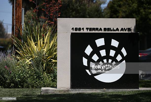 A sign is posted in front of the Skybox Imaging headquarters on June 10 2014 in Mountain View California Google announced an agreement to purchase...