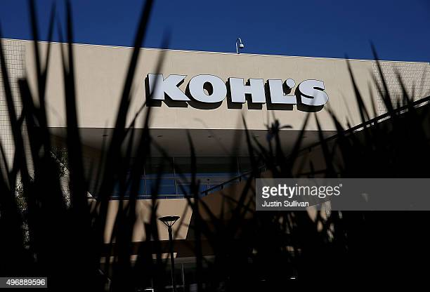 A sign is posted on the exterior of a Kohl's store on November 12 2015 in San Rafael California Kohl's reported a betterthanexpected third quarter...