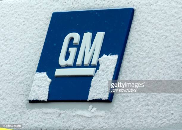 A sign is seen at General Motors as they announced the closing of multiple facilities including the Warren Transmission Operations on November 26...