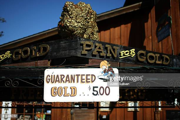 A sign is seen in front of Gold Prospecting Adventures May 6 2008 in Jamestown California With gold trading near $900 per ounce people are flocking...