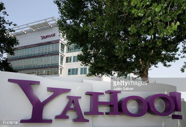 A sign is seen in front of the Yahoo headquarters July 18 2006 in Sunnyvale California Yahoo Inc reported second quarter earnings of $1643 million or...