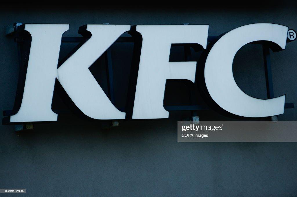 A Kfc Sign Is Seen In Krakow Kfc Is An American Fast Food