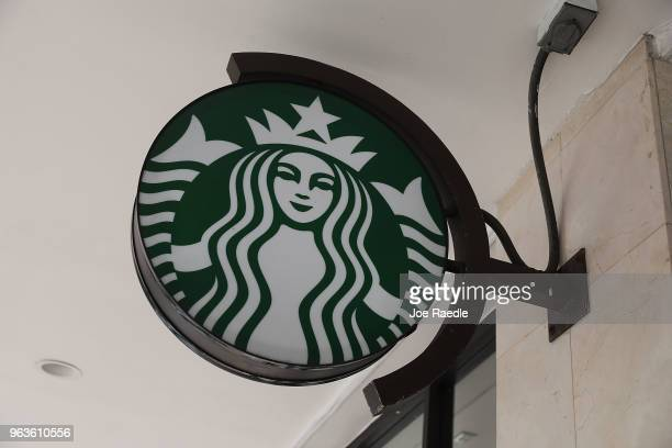 A sign is seen on the wall of a Starbucks store that was closed during a day alloted for company wide antibias training on May 29 2018 in Miami...