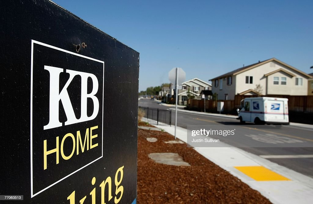 A sign is seen outside of a KB Home sales center September 27, 2007 in Richmond, California. Homebuilder KB Home reported a third quarter loss of $35.6 million, or 46 cents per share compared to sizeable earnings of $153.2 million, or $1.97 per share,one year ago.