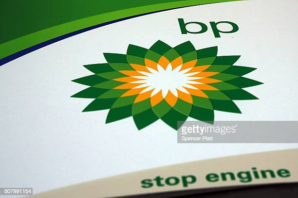 BP sign is viewed at a gas station in Brooklyn on February 2 2016 in New York City The oil industry giant reported on Tuesday a $33 billion...