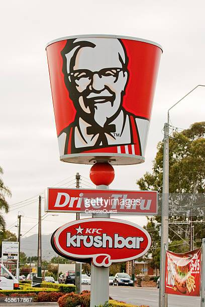 sign - kfc (kentucky fried chicken) - kentucky fried chicken stock photos and pictures