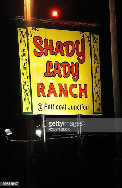 A sign leads the way to the Shady Lady Ranch brothel in Nye County Nevada about 150 miles north of Las Vegas on January 9 2010 Brothel owneroperator...