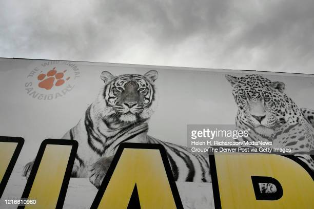 A sign leads to the entrance of the Wild Animal Sanctuary on April 1 2020 in Kennesburg Colorado The sanctuary is now home to 45 tigers that were...