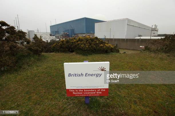 A sign marks the boundary of Sizewell nuclear power station on March 17 2011 in Leiston EnglandAs the Japanese fight to contain the Fukushima Daiichi...
