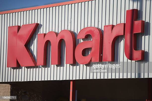 A sign marks the location of a Kmart store on November 14 2012 in Chicago Illinois Sears Holdings which owns Kmart will report 3rd quarter earnings...