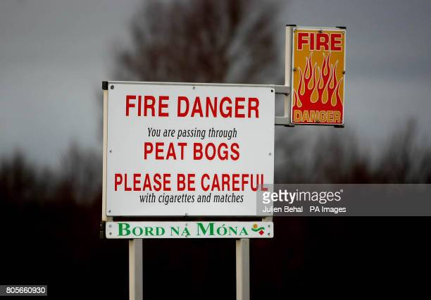 A sign near the peat bogs outside Urlingford CoKilkenny on Ireland Budget day when the Government has signalled it will introduce a carbon tax...