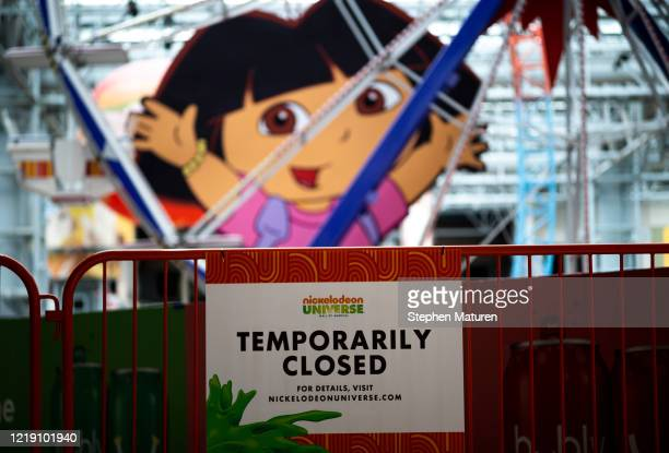 Sign notes that the theme park remains closed inside the Mall of America on June 10, 2020 in Minneapolis, Minnesota. Today marks the first day the...