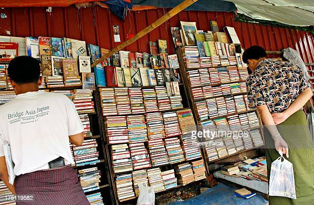 A sign of a return to normal life after days of antijunta demonstration and violence a book stall has reopened in a downtown street
