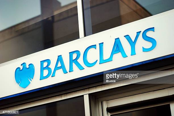 sign of barclays bank in liverpool - barclays brand name stock photos and pictures