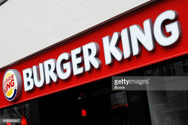 sign of burger king in liverpool - burger king stock pictures, royalty-free photos & images