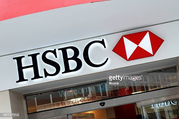 Sign of HSBC bank in Liverpool.