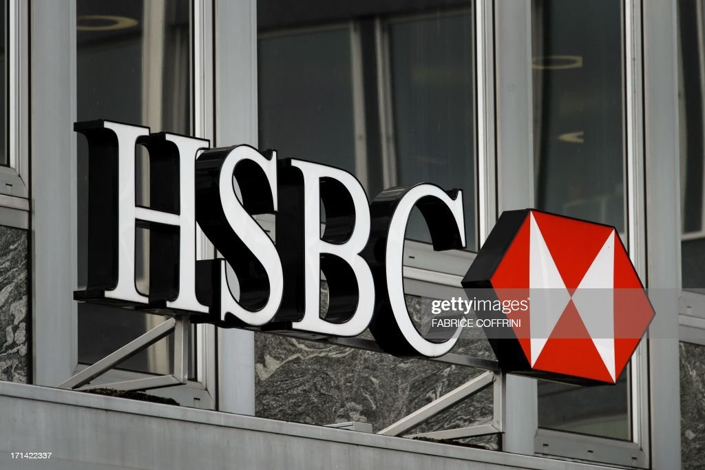 A sign of HSBC private bank (Suisse) is seen on June 14, 2013 in the center of Geneva.