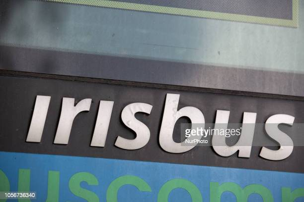 A sign of Irisbus is seen in the capital of Piedmont in Northern Italy