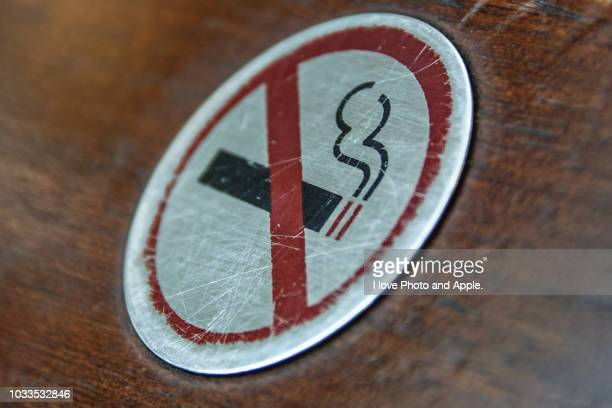 Sign of non-smoking seat