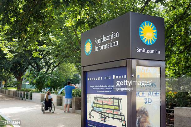 sign of smithsonian institute in washington, dc - natural history museum stock pictures, royalty-free photos & images