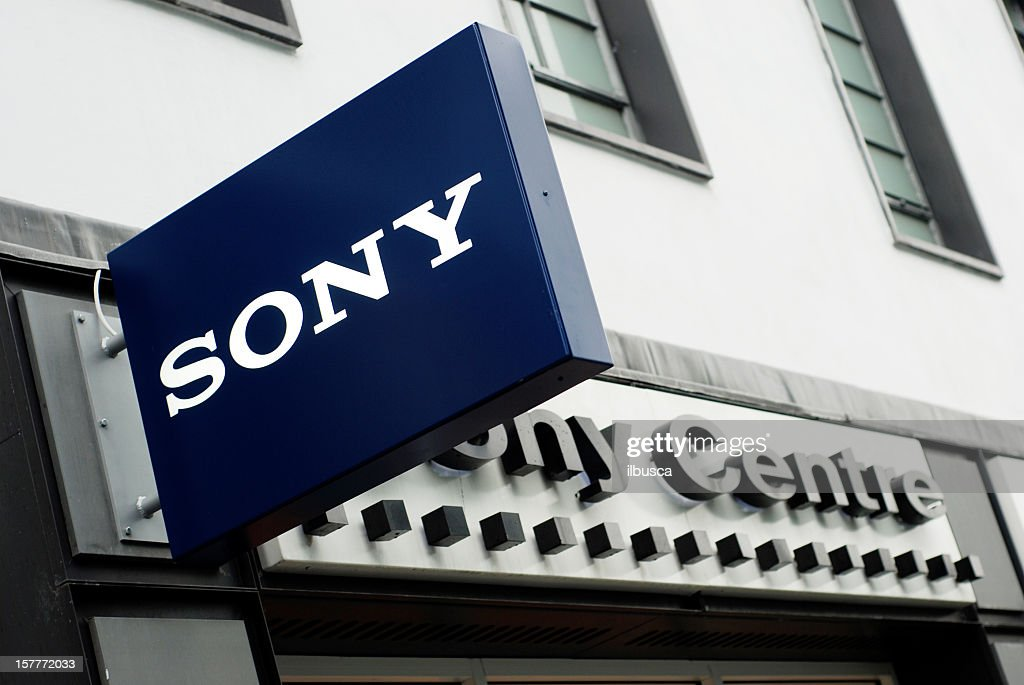 Sign of Sony Centre in Liverpool : Stock Photo