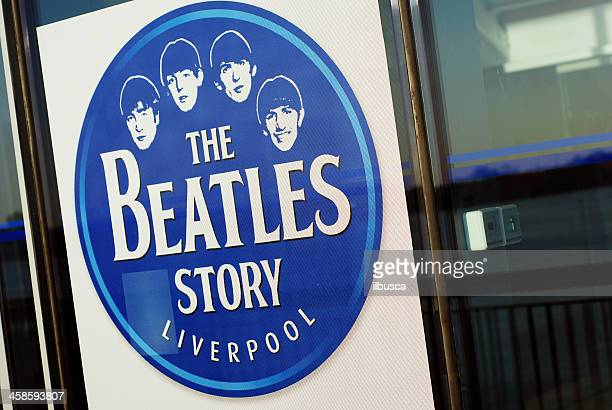 sign of the beatles story museum in liverpool - beatles band stock photos and pictures