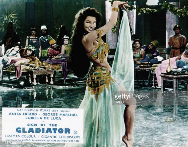 Sign Of The Gladiator lobbycard Chelo Alonso 1959