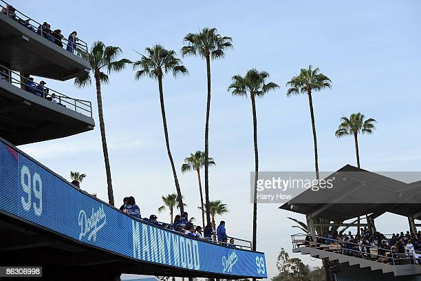 Sign of the newly designated Mannywood section at Dodger Stadium on April 30, 2009 in Los Angeles, California.