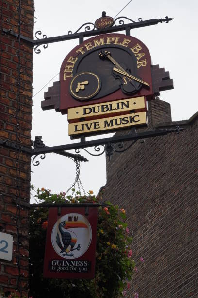 Sign of the Temple Bar Pub, Guinness, Dublin, Ireland