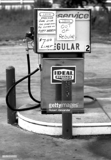 A sign on a pump at a Kentucky gas station in 1979 states that gas supplies will be limited because of a nationwide gas shortage The 1979 oil crisis...