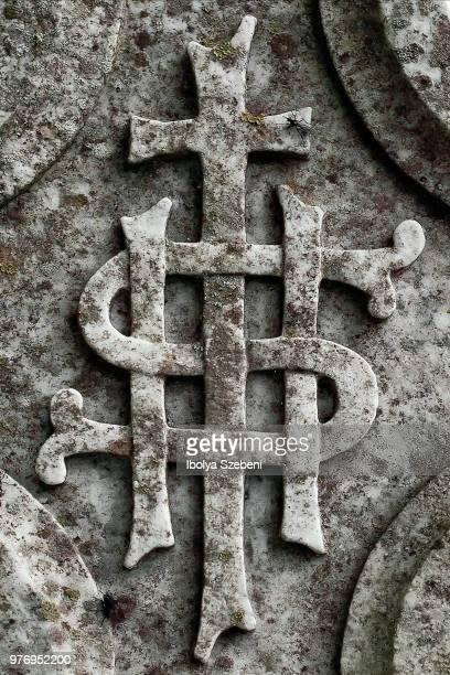 Sign on an Irish headstone
