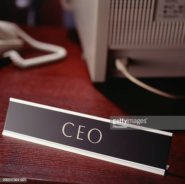 CEO sign on desk