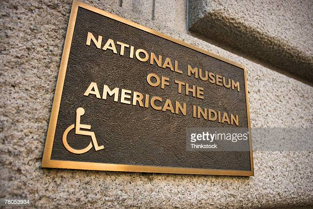 Sign on National Museum of the American Indian, Washington, DC