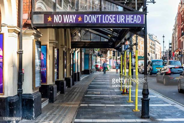 Sign on the Lyric Theatre. The show Six, in which Henry VIIIs wives return from the dead to give a pop concert aims to boost confidence in live...