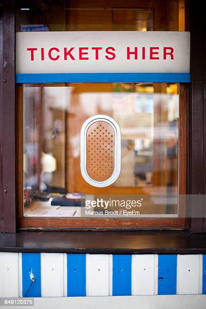 Sign On Ticket Counter
