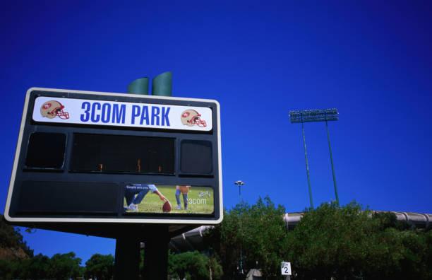 Sign outside 49's 3Com Park stadium.