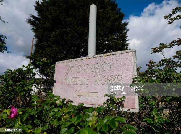 A sign outside the British Steel Lackenby Steel works on May 21 2019 in Teesside England British Steel is on the verge of administration as it...
