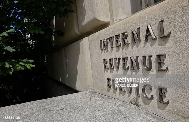 A sign outside the Internal Revenue Service is seen August 8 2015 in Washington DC AFP PHOTO / KAREN BLEIER