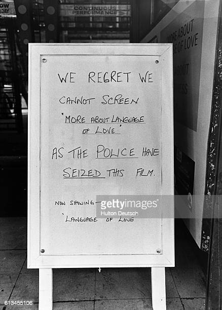 check out 6924a 3972f A sign outside the Jacey Cinema in Charing Cross Road to inform... News  Photo - Getty Images