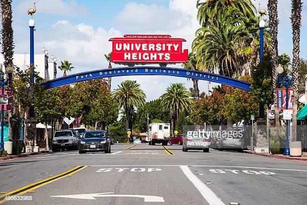 Melden Sie sich auf der University Heights Viertel von San Diego