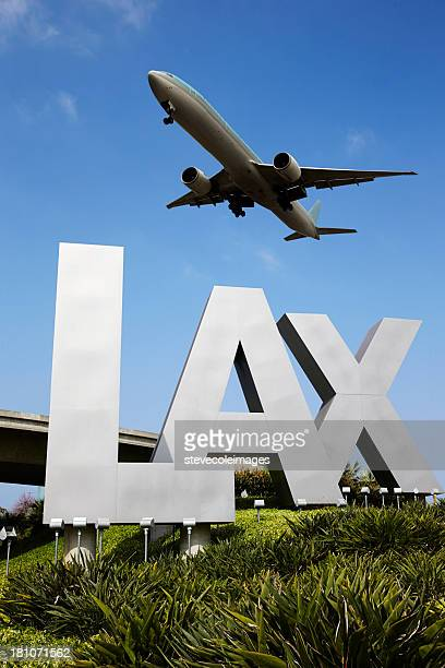 sign - lax airport stock pictures, royalty-free photos & images